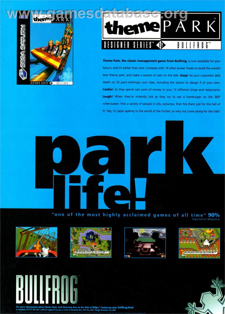 Theme Park - Nintendo SNES - Artwork - Advert