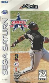 Box cover for All Star Baseball '97 Featuring Frank Thomas on the Sega Saturn.
