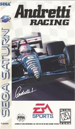 Box cover for Andretti Racing on the Sega Saturn.