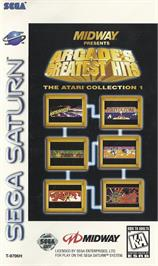 Box cover for Arcade's Greatest Hits: The Atari Collection 1 on the Sega Saturn.