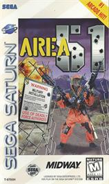 Box cover for Area 51 on the Sega Saturn.
