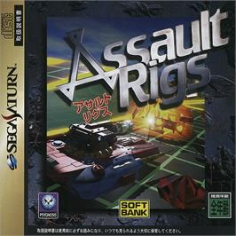 Box cover for Assault Rigs on the Sega Saturn.