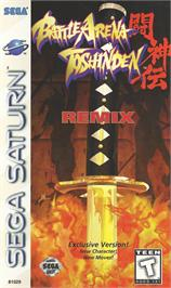 Box cover for Battle Arena Toshinden Remix on the Sega Saturn.