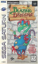 Box cover for Blazing Dragons on the Sega Saturn.