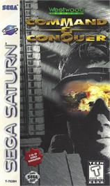 Box cover for Command & Conquer on the Sega Saturn.