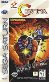 Box cover for Contra: Legacy of War on the Sega Saturn.