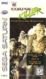 Box cover for Corpse Killer - Graveyard Edition on the Sega Saturn.
