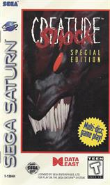 Box cover for Creature Shock on the Sega Saturn.
