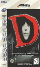 Box cover for D on the Sega Saturn.