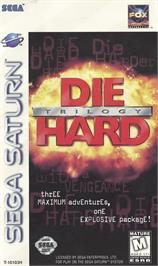 Box cover for Die Hard Trilogy on the Sega Saturn.