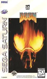 Box cover for Doom on the Sega Saturn.