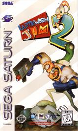 Box cover for Earthworm Jim 2 on the Sega Saturn.