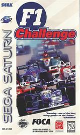 Box cover for F1 Challenge on the Sega Saturn.
