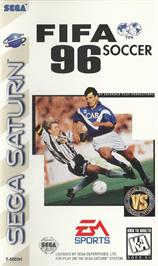 Box cover for FIFA 96 on the Sega Saturn.