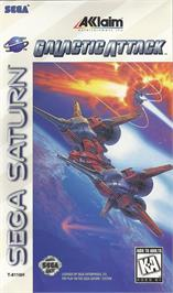 Box cover for Galactic Attack on the Sega Saturn.