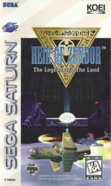 Box cover for Heir of Zendor: The Legend and the Land on the Sega Saturn.