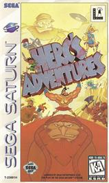 Box cover for Herc's Adventures on the Sega Saturn.