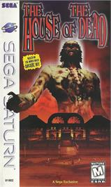 Box cover for House of the Dead on the Sega Saturn.