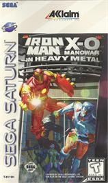 Box cover for Iron Man / X-O Manowar in Heavy Metal on the Sega Saturn.