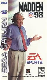 Box cover for Madden NFL '98 on the Sega Saturn.