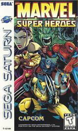 Box cover for Marvel Super Heroes on the Sega Saturn.