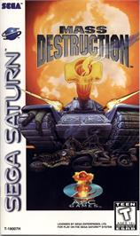 Box cover for Mass Destruction on the Sega Saturn.