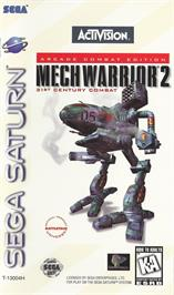 Box cover for MechWarrior 2: 31st Century Combat on the Sega Saturn.