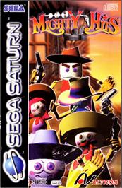 Box cover for Mighty Hits on the Sega Saturn.