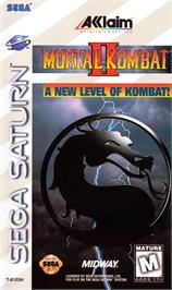 Box cover for Mortal Kombat II on the Sega Saturn.