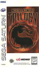 Box cover for Mortal Kombat Trilogy on the Sega Saturn.