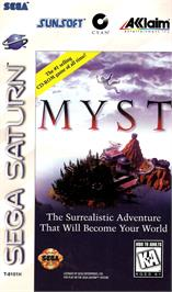 Box cover for Myst on the Sega Saturn.