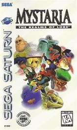 Box cover for Mystaria: The Realms of Lore on the Sega Saturn.