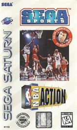 Box cover for NBA Action 98 on the Sega Saturn.