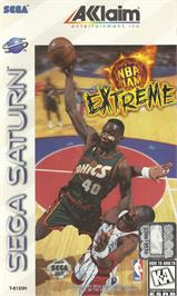 Box cover for NBA Jam Extreme on the Sega Saturn.