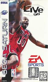 Box cover for NBA Live '98 on the Sega Saturn.