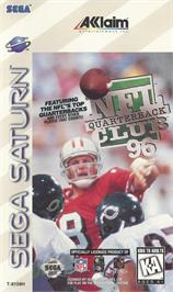 Box cover for NFL Quarterback Club '96 on the Sega Saturn.