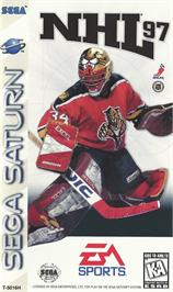Box cover for NHL '97 on the Sega Saturn.
