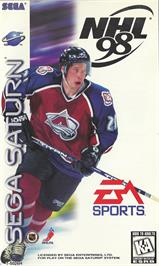 Box cover for NHL '98 on the Sega Saturn.