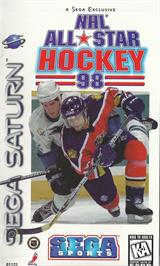 Box cover for NHL All-Star Hockey '98 on the Sega Saturn.