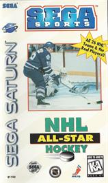 Box cover for NHL All-Star Hockey on the Sega Saturn.