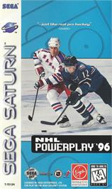 Box cover for NHL Powerplay '96 on the Sega Saturn.