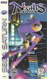 Box cover for NiGHTS into Dreams... on the Sega Saturn.