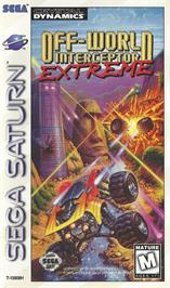 Box cover for Off-World Interceptor Extreme on the Sega Saturn.