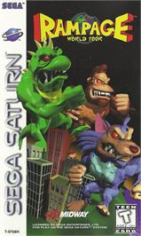 Box cover for Rampage: World Tour on the Sega Saturn.