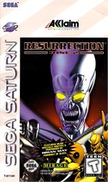 Box cover for Resurrection: Rise 2 on the Sega Saturn.