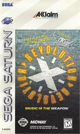 Box cover for Revolution X on the Sega Saturn.