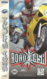 Box cover for Road Rash on the Sega Saturn.