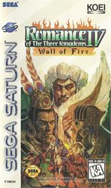 Box cover for Romance of the Three Kingdoms IV: Wall of Fire on the Sega Saturn.