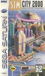 Box cover for Sim City 2000 on the Sega Saturn.
