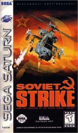 Box cover for Soviet Strike on the Sega Saturn.